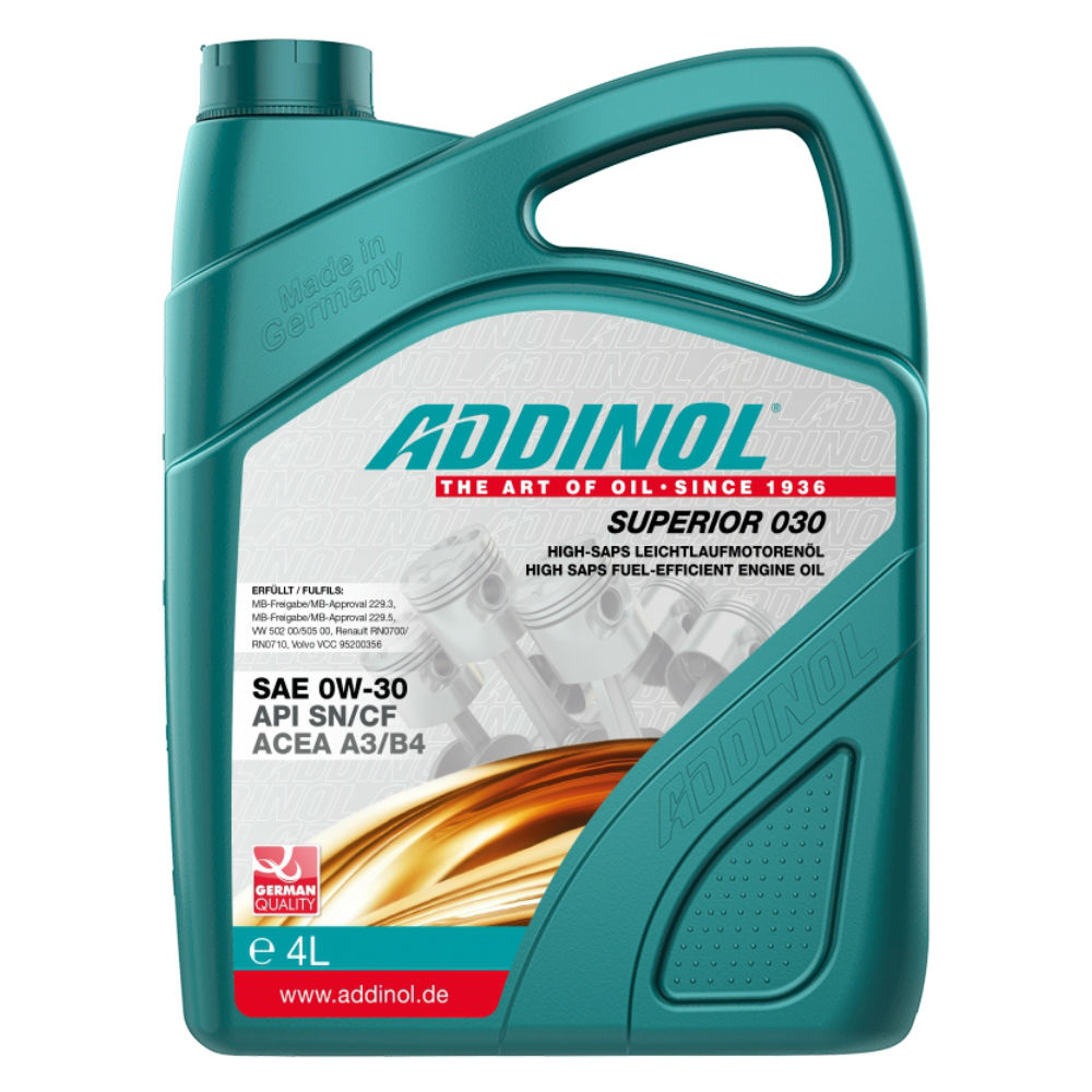 Масло Addinol Superior 030 0W-30 - 4 Литра