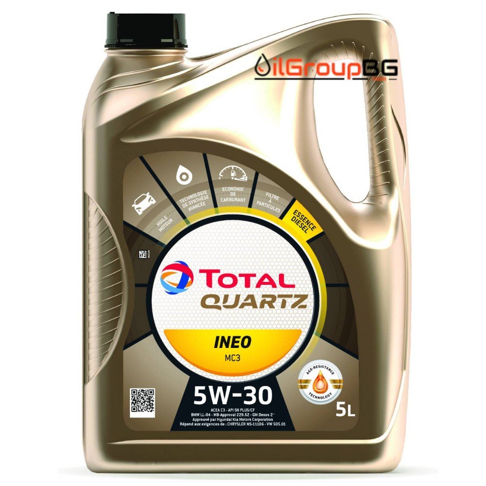 Масло Total Quartz INEO MC3 5W-30 - 5 Литра
