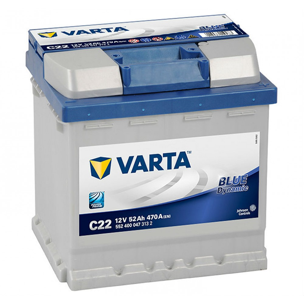Акумулатор VARTA Blue Dynamic 52Ah 470A (R+)